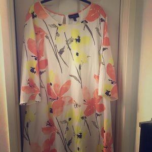 White, yellow and orange flower dress